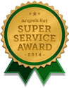 Angies List Super Service Award 2014 winner