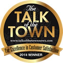 Talk of the Town - Winner 2015 - Excellence in Customer Satisfaction